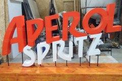 Буквы Aperol spritz