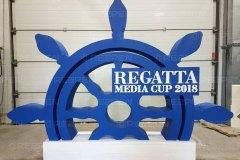 Буквы REGATTA media cup 2018