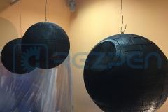 Покраска пенопластовых шаров