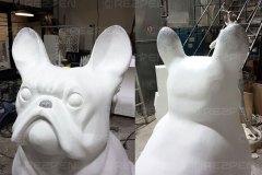 Скульптура бульдога