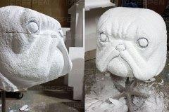 Изготовление скульптуры бульдога