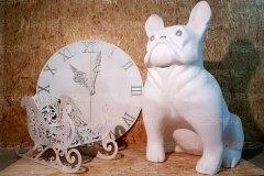 Собака и часы декор для нового года
