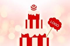 Макет торта из пенопласта с логотипом