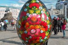 Яйца расписанные под хохлому