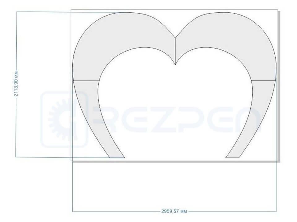 размер свадебной арки из пенопласта