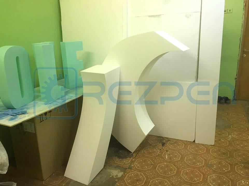 изготовление свадебной арки из пенопласта