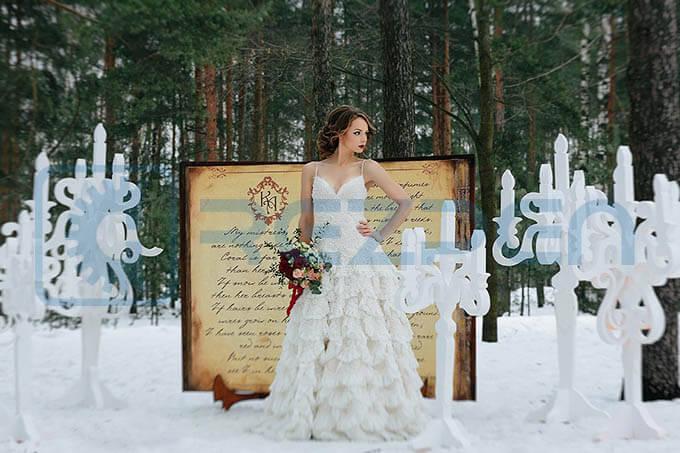 фигуры из пенопласта для свадебной фотосессии