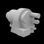 3D макет промышленного станка из пенопласта