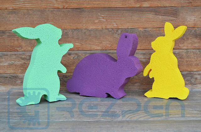 кролики на пасху из пенопласта