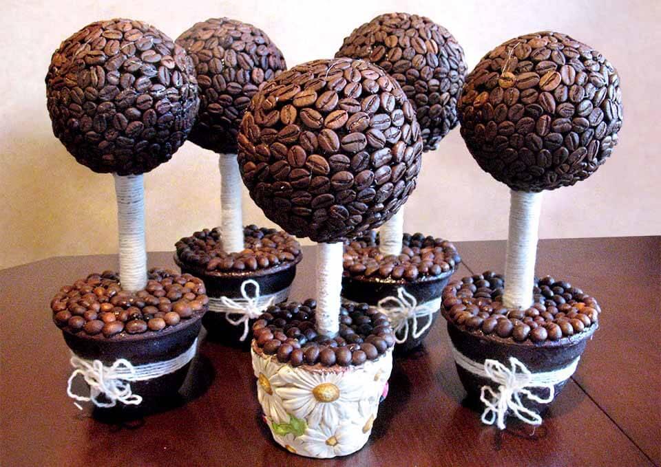 кофейный топиарий шары из пенопласта купить