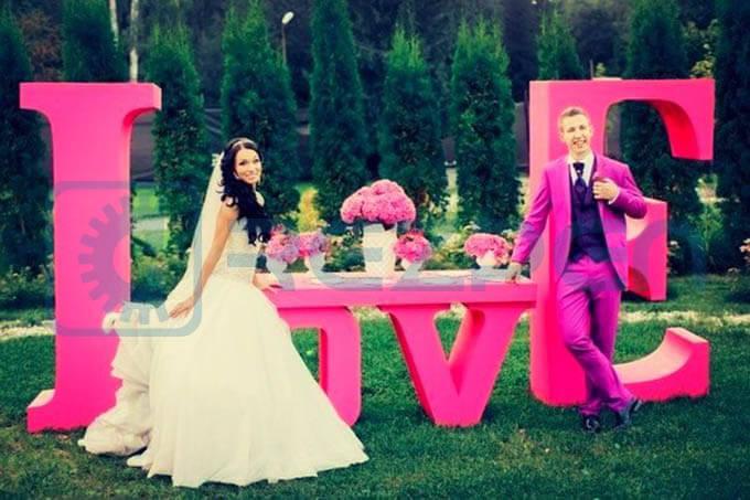Аренда букв на свадьбу