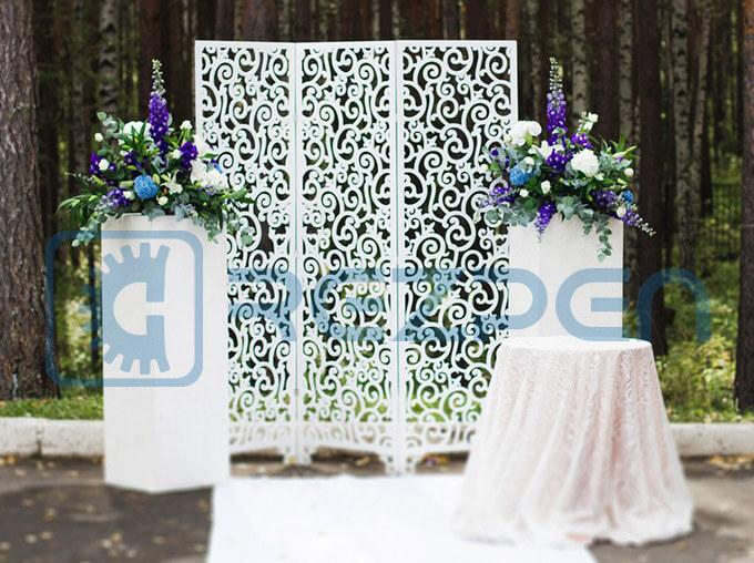 ажурная ширма для свадьбы