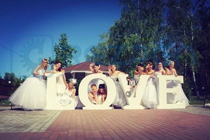 Изготовление букв LOVE 1 метр