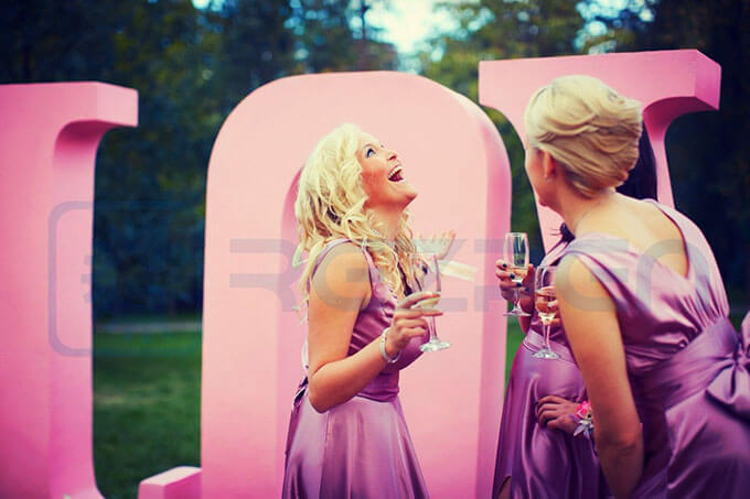 love прокат букв розовые
