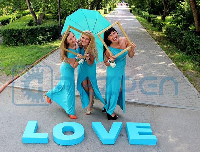 Буквы для свадьбы LOVE