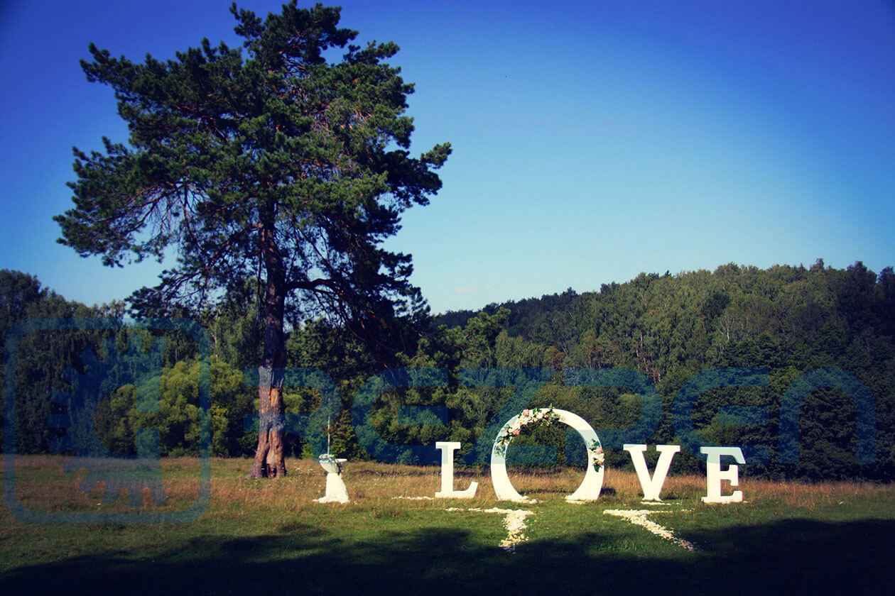 Арка LOVE для свадьбы