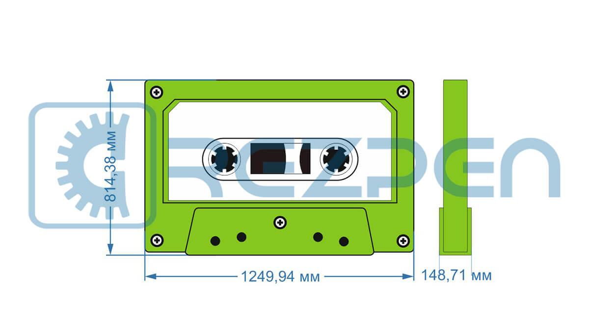 фигура аудиокассета из пенопласта