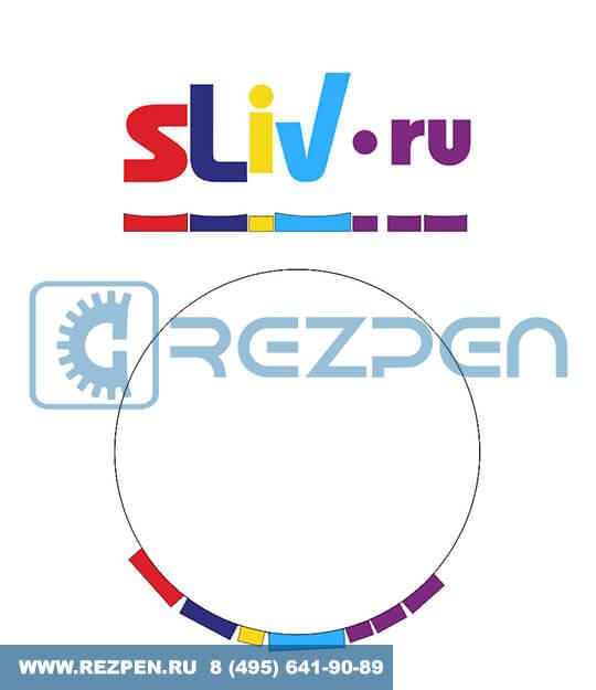 объемный логотип из пенопласта