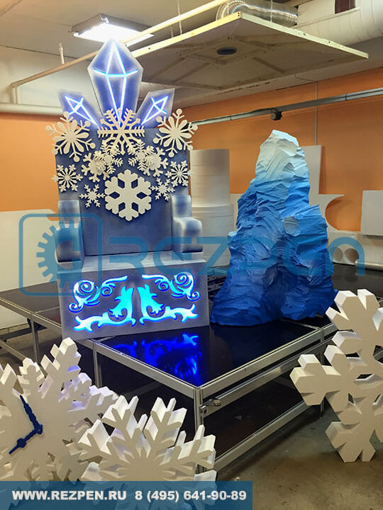Трон для дед мороза с айсбергом